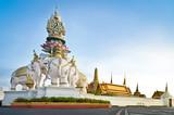Wat phra kaew with the elephant statue