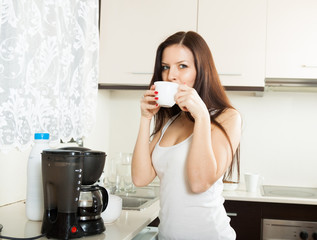 girl with cup of coffee
