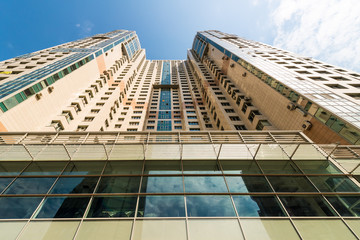 Modern multi-storey residential building