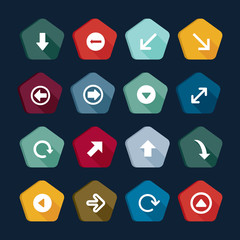 Arrow icons set, buttons collection