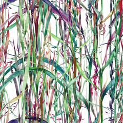 Grass Seamless Pattern