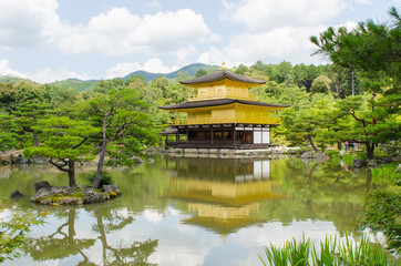 Golden Pavilion at Kinkakuji in Kyoto
