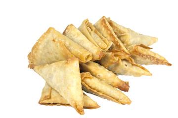 Arrangement of Fresh Deep Fried Samoosa Snacks
