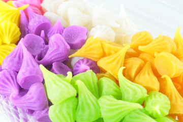 Colorful Sweetness Thai Style Dessert