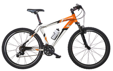 Mountain Bike Orange white
