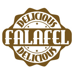 Delicious falafel stamp or label