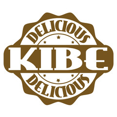 Delicious kibe stamp or label
