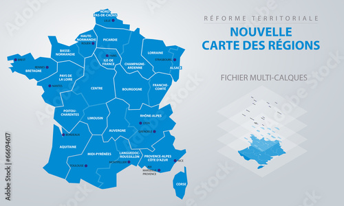 Réforme territoriale - Nouvelle carte des régions - 66694617