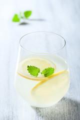 fresh lemonade in glass