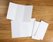 blank white folding paper flyer - 66695433