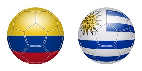 Football. Colombia - Uruguay