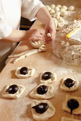 Baker Making Sweet Pastry