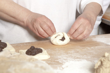 Baker Making Sweet Pastry