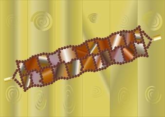 Beaded bracelet with stones.