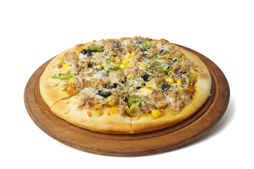 Ton Balıklı Pizza - Clipping Path Inside