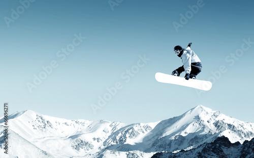 Fotobehang Extreme Sporten Snowboarding