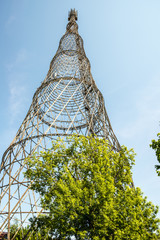 TV Tower engineer Shukhov in Moscow on Shabolovka