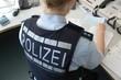 canvas print picture - Polizei im Büro