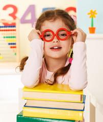 little genius  with books