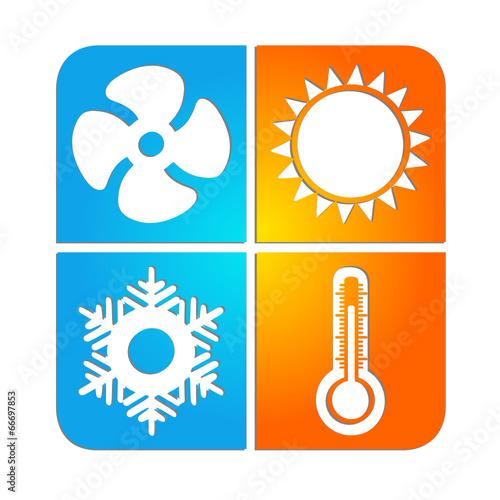 logo climatisation chauffage ventilation fichier vectoriel libre de droits sur la banque d. Black Bedroom Furniture Sets. Home Design Ideas