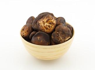 shiitake mushroom on white background
