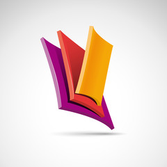 Vector logo Business Abstract Shape 3d