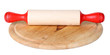 Rolling pin isolated on white
