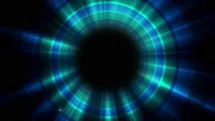 spinning blue light on the background of circles, loop
