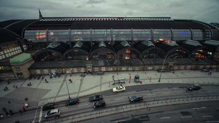 Hamburg Central Station time lapse