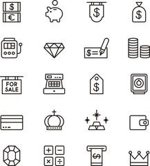 Moeny icons