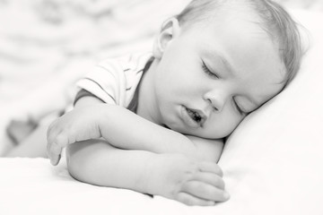 sleeping  toddler baby boy