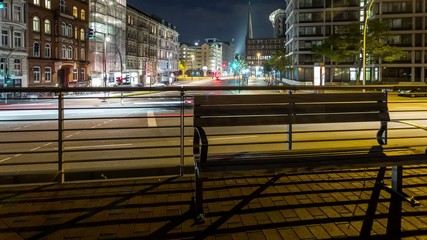 Hamburg city crossroad DSLR time lapse