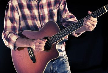 country guitarist, filtered image