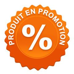produit en promotion sur bouton web denté orange