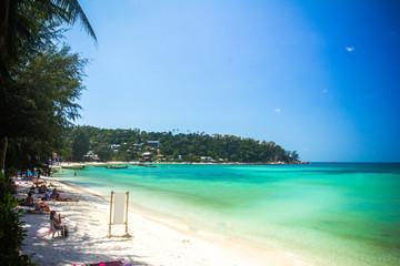 Tropical beach at Koh Phangan - nature background. Thailand