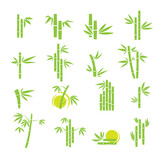 Bamboo vector symbol icons set