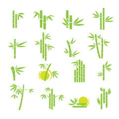 Bamboo vector symbol icons set © JMC