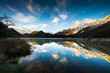 Sunrise and Reflection View of Moke Lake near Queenstown New Zea