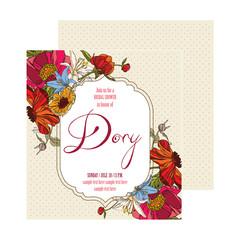 Bridal Shower Card Dory