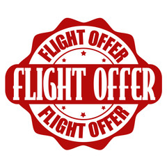 Flight deals stamp or label