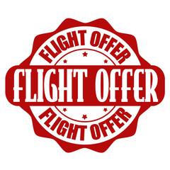 Flight deals stamp or label