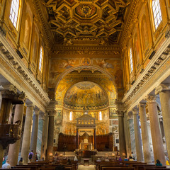 Basilica di Santa Maria in Trastevere, Rome, Italy.