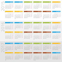 Kalender 2015-2017