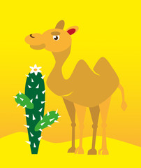camel and cactus