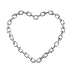 Chain heart isolated on a white background