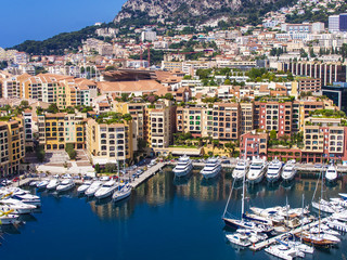 Principality of Monaco, France. View Yacht city port