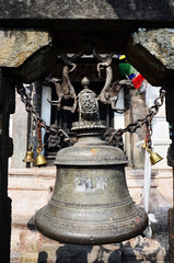 ฺBell in Swayambhunath Temple or Monkey Temple
