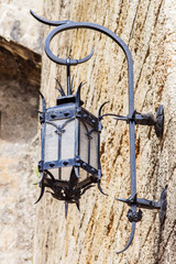 Principality of Monaco. Ancient streetlight