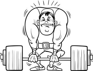 weightlifting sportsman coloring book