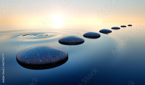 Tuinposter Zee / Oceaan Steine im Wasser